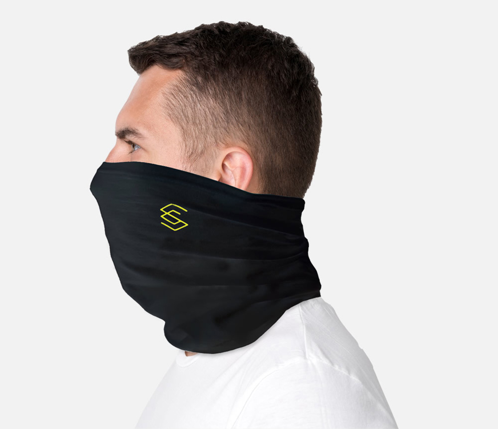 Lightweight and breathable snood treated with ViralOff® Antiviral technology proven to reduce the SARS-CoV-2 virus*